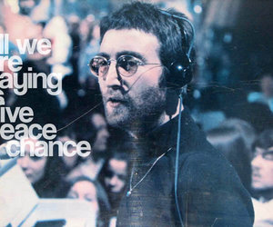 peace, jonh lennon, and give peace a chance image