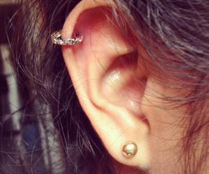 earring, helix, and pretty image