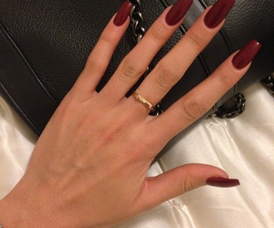hand, red, and red polish image