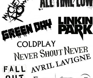 Avril Lavigne, coldplay, and all time low image