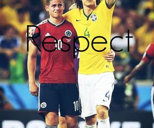 respect, david luiz, and james rodriguez image