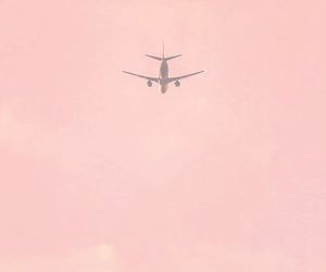 airplane, hipster, and pink image