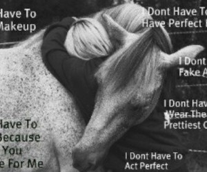 girl, horse, and horse quotes image