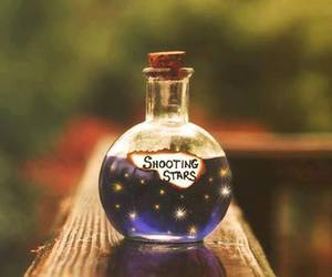 stars, bottle, and shooting star image