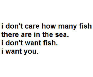 love, fish, and quote image