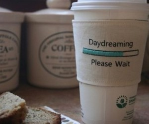 coffee, daydreaming, and Dream image