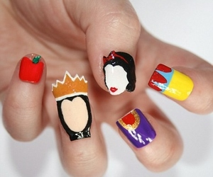 nails, snow white, and disney image