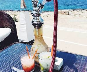 beach, shisha, and drink image