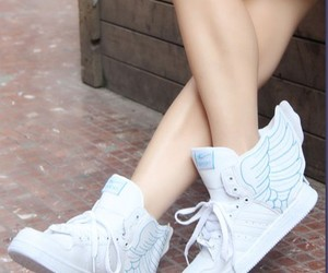 shoes, wings, and angel image