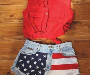 fashion, red, and usa image