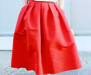 red, bonjour, and outfit image
