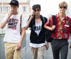 boys, models, and paris mens fashion week image