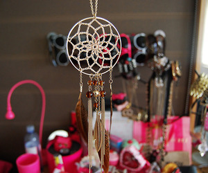 Dream, dream catcher, and pink image