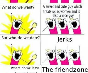 girl, funny, and friendzone image