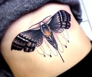 tattoo, ink, and butterfly image