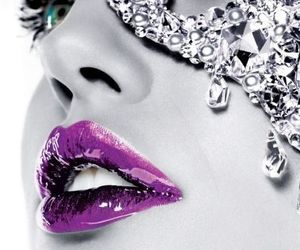 blue, lips, and make up image