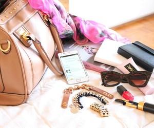lipstick, makeup, and bag image