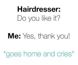 hair, cry, and funny image