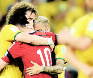 dani alves, david luiz, and james rodriguez image