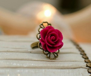 flower, red, and ring image