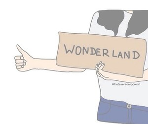 overlay, background, and wonderland image