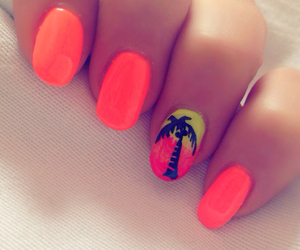 nails, palm, and neon image