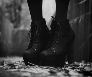 shoes, black, and black and white image