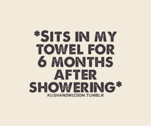 shower, funny, and towel image