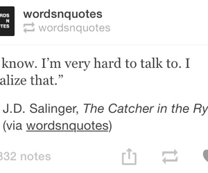black and white, quote, and j d salinger image