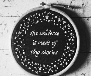 universe, stars, and quote image