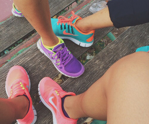 colorful, sport, and tennis shoes image