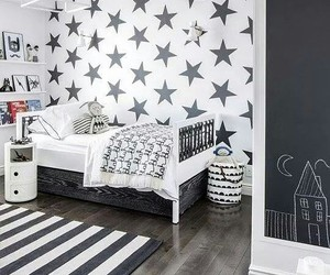 bedroom, stars, and home decor image
