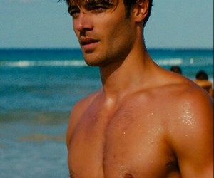 beach, Hot, and sixpack image