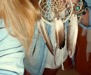 dream catcher, girl, and blonde image