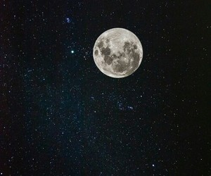 moon, stars, and white image