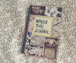 journal, wreck this journal, and book image