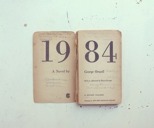 1984, book, and George Orwell image