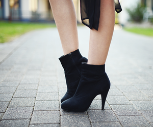 ankle boots, fashion, and flower image