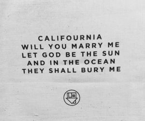Lyrics, quotes, and west coast image