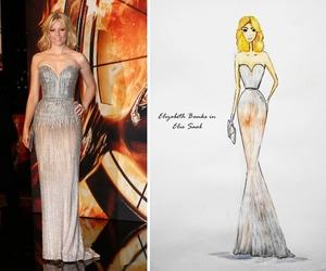 drawing, dress, and elegant image