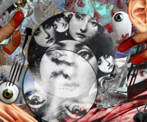 Collage, death, and love image