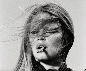 brigitte bardot, cigarette, and black and white image