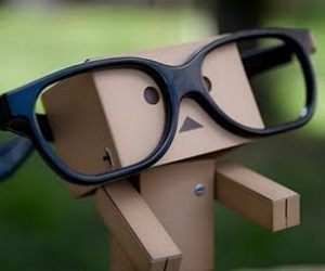 glasses, danbo, and nerd image