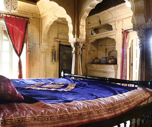 bed, india, and interior design image