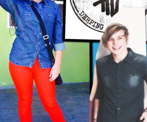 fashion, look, and 5sos image