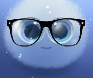 blue, fluffy, and nerdy image