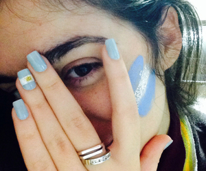nails, argentina, and brunette image