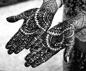 henna, hands, and art image