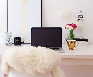 desk, home, and inspirations image