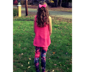 bow, curly, and pink image